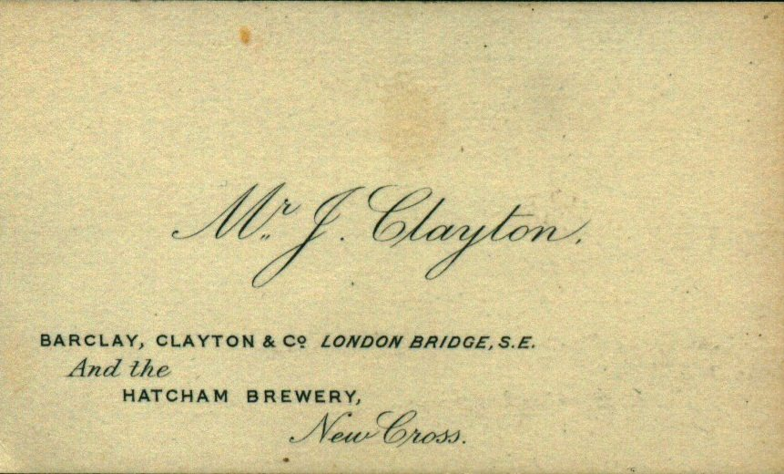 Barclay, Clayton & Co business card